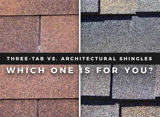 Three-Tab vs. Architectural Shingles: Which One is For You?